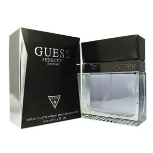 Guess Seductive Homme Cologne Men 3.4oz 100ml EDT Fragrance NEW IN ... 985401f8f62