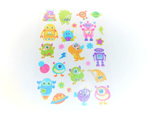Alien and Planet Stickers childrens card making labels for kids PVC12