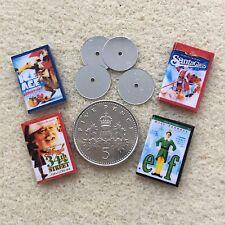 4 DOLLS HOUSE miniatura Natale DVD Babbo Natale Elfo ERA GLACIALE 34th STREET 1:12