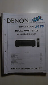 denon avr 610 service manual original book av surround receiver rh ebay com Denon Receivers Rear View Denon Receivers Rear View