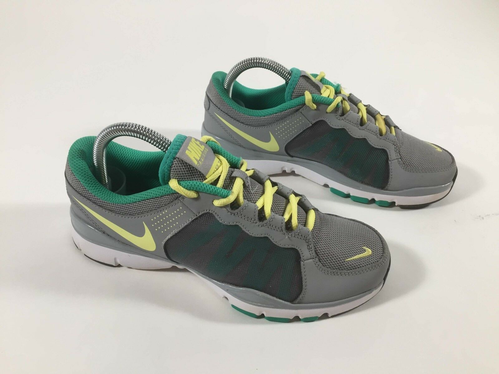 Women's NIKE Flex Trainer II 2 Grey/Teal/Yellow Shoes 511332-013 -Comfortable Comfortable and good-looking