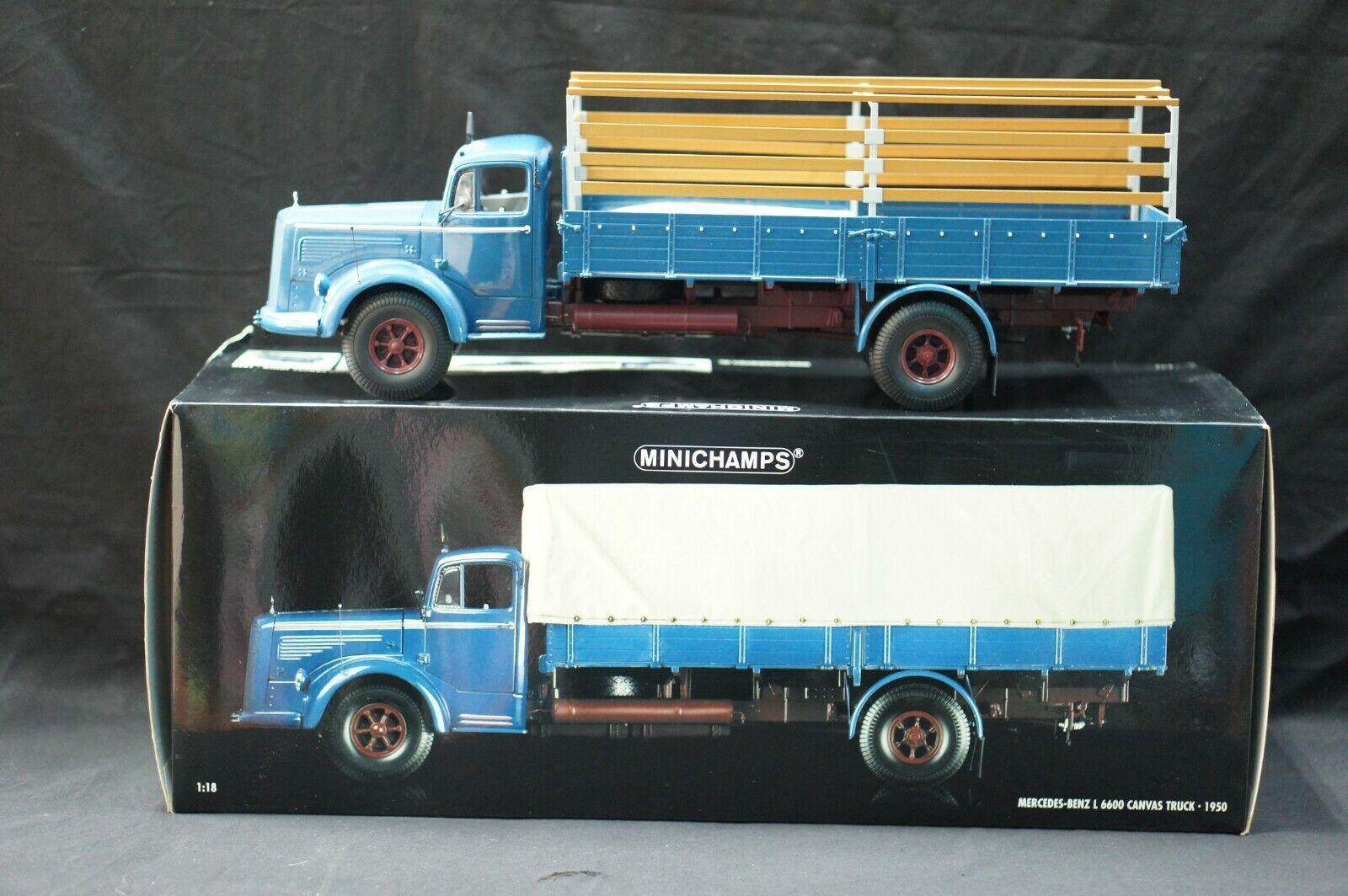 Minichamps 109031020 Mercedes-Benz L 6600 1 18 canvas truck-1950