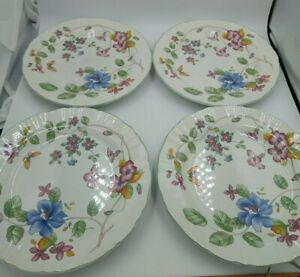 Mikasa-Country-Classics-HEIRLOOM-Dinner-Plates-4-Butterfly-Flowers-11-1-8-034