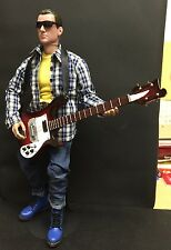 """1/6 12"""" FIGURE WITH ELECTRIC GUITAR FENDER ROCK BBI HOT COOL TOY DRAGON YAMAHA"""