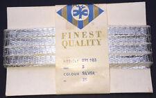 Ungewöhnlich Vintage Silber Metall Ribbon 25m long 8mm breit