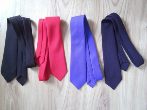 CHILDREN PLAIN SCHOOL WEDDING PARTY BLACK RED NAVY BLUE NECK TIE BOYS//GIRLS KIDS