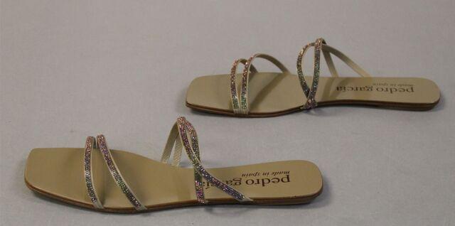 Pedro Garcia Women's Kalene Jewel Slide Sandal MC7 Khaki Mica Combo US:12 IT:42