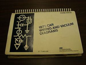 image is loading oem-ford-1975-wiring-diagram-book-mustang-ii-