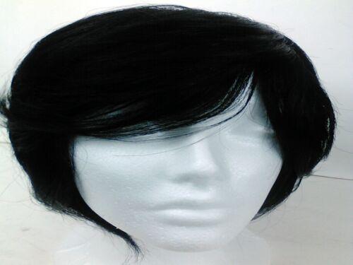 Yaki human Hair Handmade Wig layered bob ajustable cap sewing wig 1b