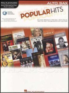 Bien Popular Hits Instrumental Play-along Alto Sax Saxophone Musique Pop Livre & Audio-afficher Le Titre D'origine Jolie Et ColoréE