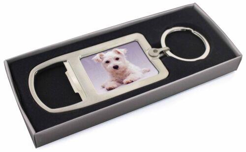 AD-W7MBO West Highland Terrier Dog Chrome Metal Bottle Opener Keyring in Box Gi