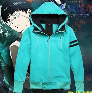 Green Coat Japanese Anime Tokyo Ghoul Cosplay Kaneki Ken Boy S