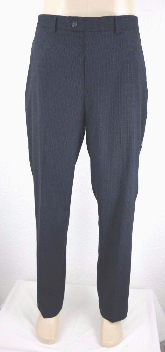 NEW Perry Ellis Portfolio Travel Luxe Men's Flat Front Pant Size 38x32