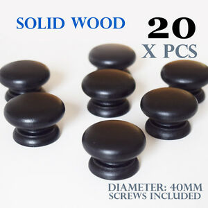 20 x wooden kitchen door knobs handles cabinet cupboard