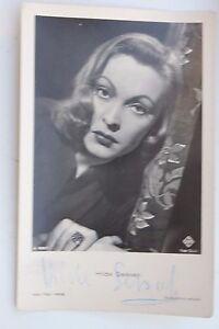 29028 Autografo Foto Ak Hilde Sessak Ross Editore No. 3580 Del 1935 Autografata