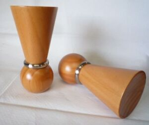 Details about 35mm ASH WOODEN CURTAIN POLE FINIALS CURTAIN POLE END THISTLE  METAL RIMMED
