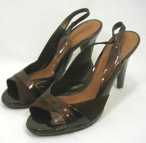 Women-039-s-Antonio-Melani-Dress-Shoes-4-034-Heels-Brown-Leather-Size-9-M-Shoes