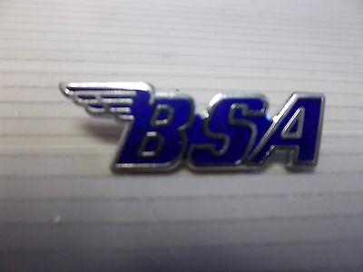MOTORCYCLE PIN BADGE 'BSA' BLUE MOTORBIKE LAPEL BADGE - BG62
