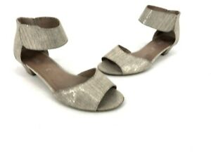 64d9c55f95214 Gabor Women's Ankle Strap Low Sandals Heels Peep Toe Metallic Shoes ...