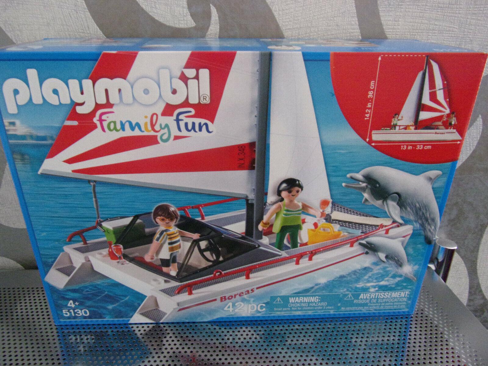 Playmobil Famiglia Diverdeimento 5130  Catamarano con Delfini - Nuovo & Conf.  risparmia il 50% -75% di sconto