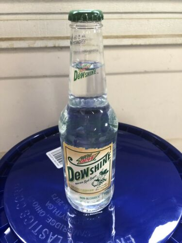 Mtn Dew Dewshine 12oz glass bottle full unopened Mountain Dew 1 Bottle