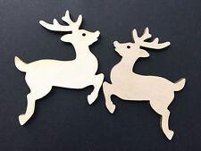 10 Streudeko Holz Tischdeko Bastelzubehör Weihnachten Xmas Rentier Ren Tier