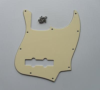 American J Bass Pickguard Scrach Plate Light Cream for Jazz Bass Guitar