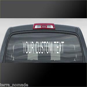 Image is loading Personalised-Custom-Rear-Window-Car-Stickers-Vinyl-Name-