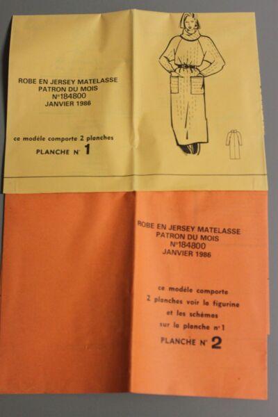 ' MODES & TRAVAUX ' PATRON JANVIER 1986 + PATRON POUPEE MARIE FRANCOISE A10