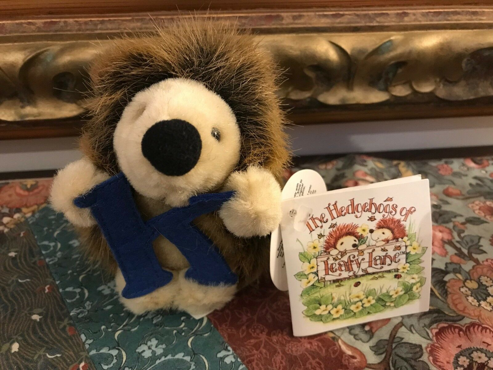Russ Hedgehogs of Leafy Lane Hedgehog Plush Letter K 5 inch All Tags