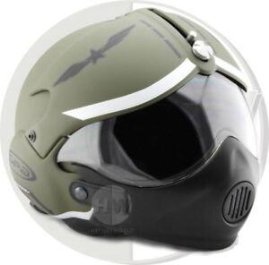 Casco-Aperto-da-Moto-Osbe-Gpa-Aereo-Tornado-Verde-XL-61-62-Cm-Mascherina