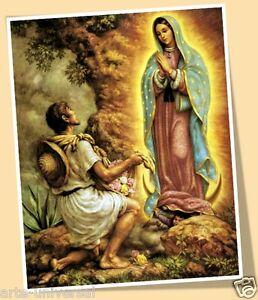 Virgin Virgen De Our Lady Of Guadalupe San Saint Juan Diego Print