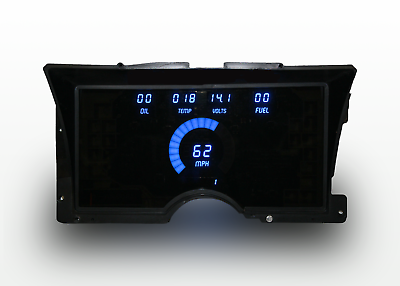 1960-1963 Chevy Truck Digital Dash Panel White LED Gauges For LS Swap Made In US