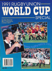 Image Is Loading 1991 Rugby Union World Cup Special By Rob