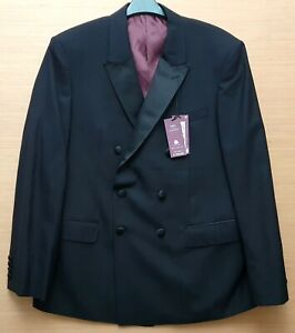 """MARKS & SPENCER Mens Black Wool Tuxedo Jacket Size 42"""" Chest Short MRRP £115-00"""