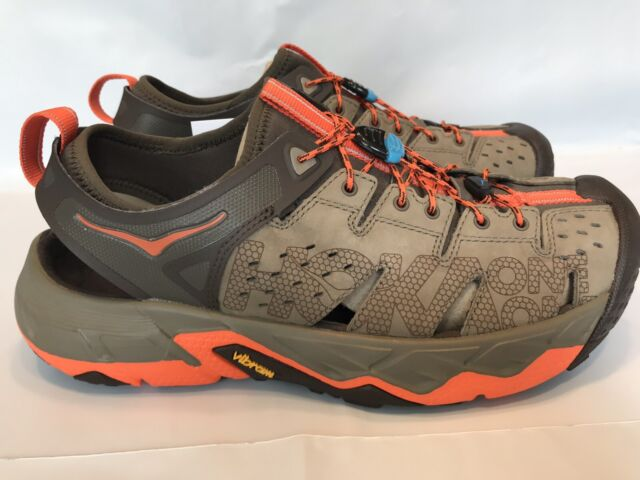 HOKA ONE ONE TOR TRAFA Men Sandal Running Hiking Trail TAN ORANGE Size 14