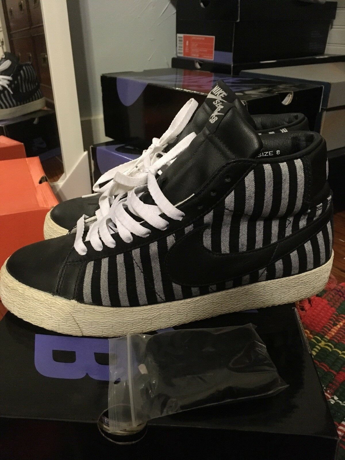 Nike Sb Blazer Striped Pack From 2006 Sz 8