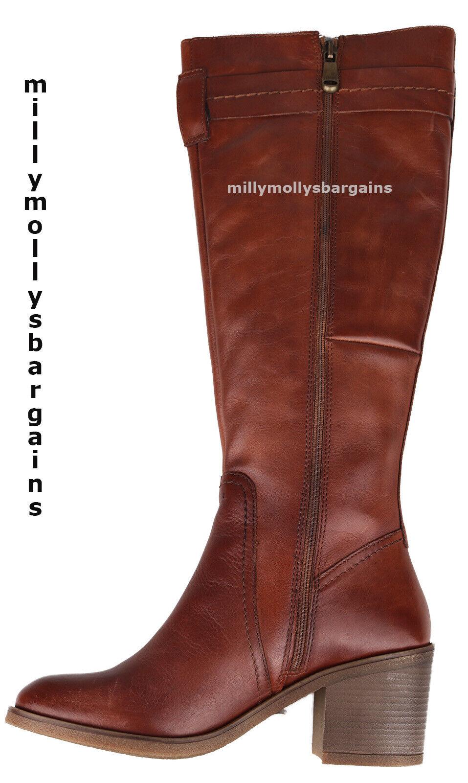 New damen braun Leather NEXT Stiefel Größe 5