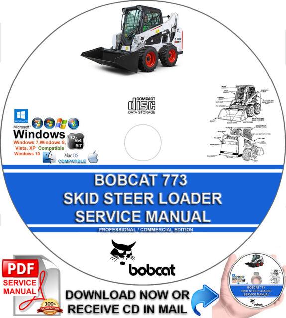 Bobcat 773  773 High Flow  773 Turbo Skid Steer Loader Excavator Service Repair
