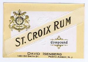 St croix rum compound david isenberg perth amboy nj antique image is loading st croix rum compound david isenberg perth amboy reheart Image collections