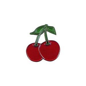 Rosso Ciliegie Distintivo Spilla Smaltata/Spilla Rockabilly 50s Pin Up Regalo
