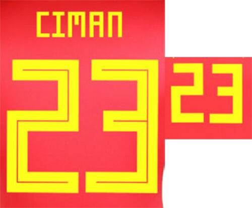 CIMAN 23 2018 WORLD CUP NAME BLOCK FOR BELGIUM HOME = ADULT SIZE