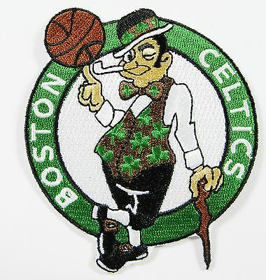Nba Boston Celtic Basketball Embroidered Patch Item # 102 Distinctive For Its Traditional Properties Discreet Lot Of 1