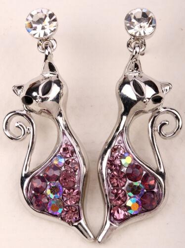 Cat Dangle Boucles D/'oreilles Halloween Party Décoration Bijoux Cadeaux pour femmes filles MWE06
