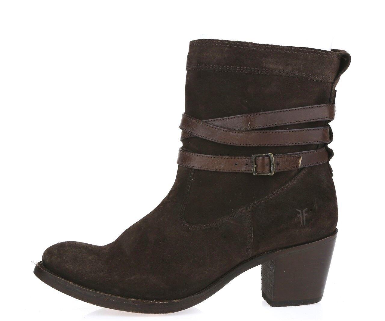 Para mujer Frye Frye Frye Ante Marrón Oscuro Corto botas Sz. 10  358  la mejor selección de