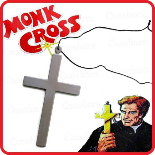 MONK CROSS NECKLACE-PRIEST NUN FRIAR TUCK RELIGIOUS-COSTUME FANCY DRESS PARTY