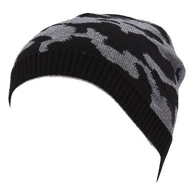 Kids' Clothing, Shoes & Accs Clothing, Shoes & Accessories Self-Conscious 9617x Cuffia Boy Bimbo Armani Jeans Black/grey Beanie Hat