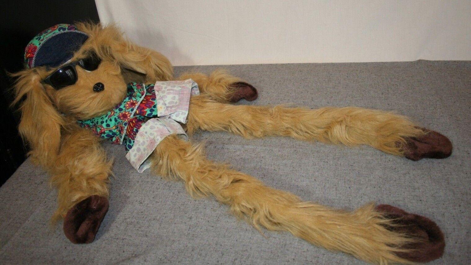 Funamals Corp 39  Wrap Around Hand Puppet Cool Brown Dog Sunglasses