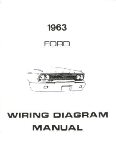 ford 1963 galaxie ford 300 ranch wagon & country squire wiring 1963 chevrolet wiring diagram ford 1963 galaxie ford 300 ranch wagon & country squire wiring diagram manual ebay