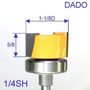 1-pc-1-4-034-Shank-1-1-8-034-Dia-with-Top-Bearing-Dado-amp-Planer-Pattern-Bit-S